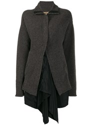 Uma Wang High Low Hem Cardigan Grey
