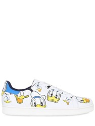 Moa Master Of Arts 10Mm Donald Duck Print Leather Sneakers