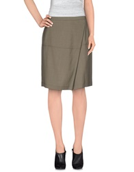 Alviero Martini 1A Classe Knee Length Skirts Grey