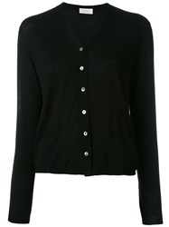 Zanone Classic Long Sleeve Cardigan Black
