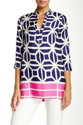 Julie Brown Blas Tunic Blouse Multi