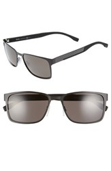 Boss Men's '0638 S' 58Mm Sunglasses Black Carbon