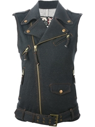 Jean Paul Gaultier Vintage Denim Vest Blue