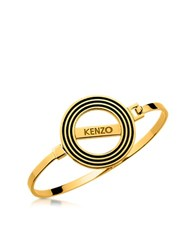 Kenzo Goldtone Reversible Logo Bangle Bracelet