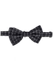 Dolce And Gabbana Polka Dot Bow Tie Men Silk One Size Black