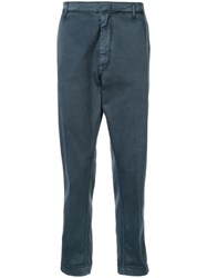 Dondup Dropped Crotch Trousers Blue