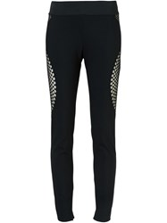 Stella Mccartney Honeycomb Effect Leggings Black