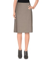 Boss Black Skirts Knee Length Skirts Women Grey