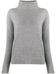 Vince Funnel Neck Sweater Grey
