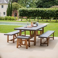 Garden Trading Chilson Table Bench And Stool Set Grey