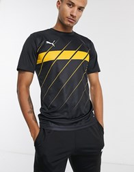 Puma Football Graphic T Shirt In Black