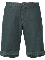 Etro Chino Turn Up Shorts Blue