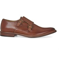 Aldo Henacien Leather Double Monk Shoes Cognac