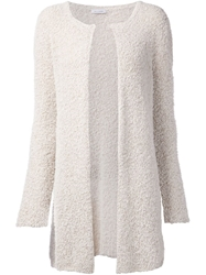 Allude Long Textured Cardigan