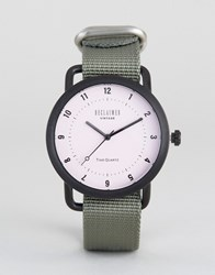 Reclaimed Vintage Gray Canvas Watch Gray