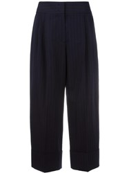 Antonio Marras Pinstripe Cropped Trousers Blue