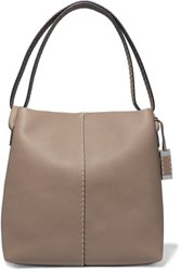 Michael Kors Collection Slouchy Hobo Textured Leather Shoulder Bag Mushroom