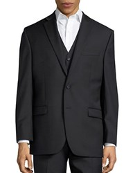 Lauren Ralph Lauren Big And Tall Two Button Wool Jacket Black