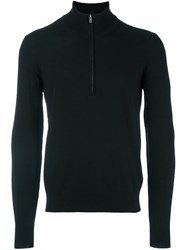 Maison Martin Margiela Elbow Patch Zip Sweater Black