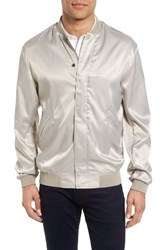 French Connection Men's Bomber Jacket Pumice