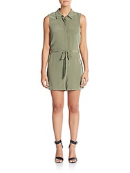 Equipment Silk Belted Romper Army Jacket