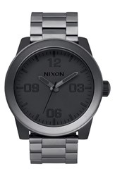 Nixon Men's 'The Corporal' Bracelet Watch 48Mm Gunmetal