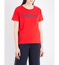 Izzue Gorgeous Cotton Jersey T Shirt Red