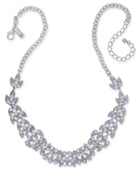 Inc International Concepts Pave And Stone Leaf Statement Necklace 18 3 Extender Purple