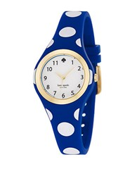 Kate Spade Rumsey Blue Dot Silicone Strap Watch