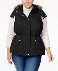 American Rag Trendy Plus Size Faux Fur Trim Puffer Vest Only At Macy's Classic Black