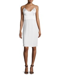 Narciso Rodriguez Spaghetti Strap Silk Cocktail Dress White Size 46 It 12 Us
