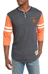 Mitchell And Ness Men's Home Stretch San Francisco Giants Henley