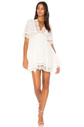 Nightcap Eyelet Flare Dress White
