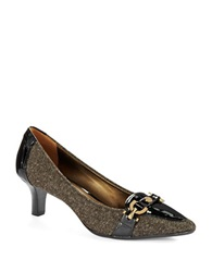 Circa Joan And David Prvue Embellished Fabric Pumps Brown