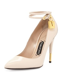 Tom Ford Patent Ankle Lock Pump Nude