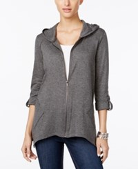 Styleandco. Style Co. Roll Tab Hoodie Only At Macy's Steel Grey Heather