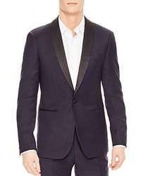 Sandro Shawl Slim Fit Tuxedo Jacket Navy Blue