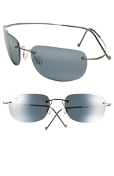 Maui Jim 'Kapalua' 57Mm Hingeless Sunglasses Black Gunmetal
