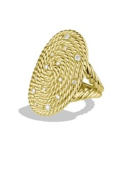 David Yurman Cable Coil Ring With Diamonds In Gold Gold Diamond