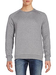 J. Lindeberg Quilted Cotton Jersey Sweater Grey