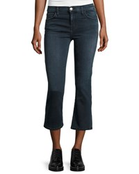 Current Elliott The Kick Flare Leg Cropped Jeans City Slicker