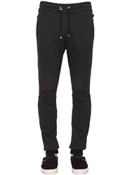 Balmain Biker Cotton Jersey Jogging Pants