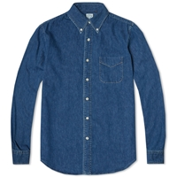 Orslow Button Down Denim Shirt Used