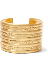 Kenneth Jay Lane Gold Tone Cuff One Size