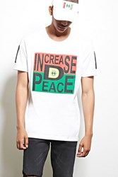 Forever 21 Cross Colours Peace Graphic Tee White