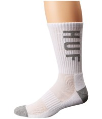 Huf Performance Crew Sock White Grey Heather Crew Cut Socks Shoes