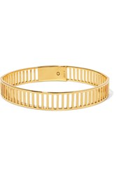 Arme De L'amour Simple Stripe Gold Plated Choker
