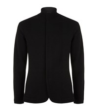 Emporio Armani Woven Wool Blend Jacket Male Black