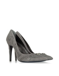 Loriblu Gray Suede Crystal Pump