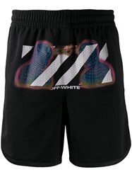 Off White Thermo Mesh Shorts Black